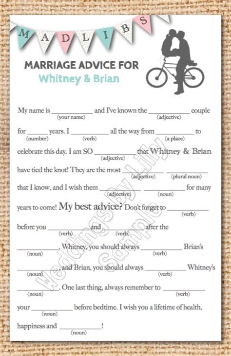 funny wedding mad libs template