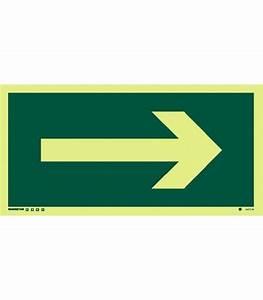 Safety Signs Photoluminescent Rigid Pvc Arrow Rotatable