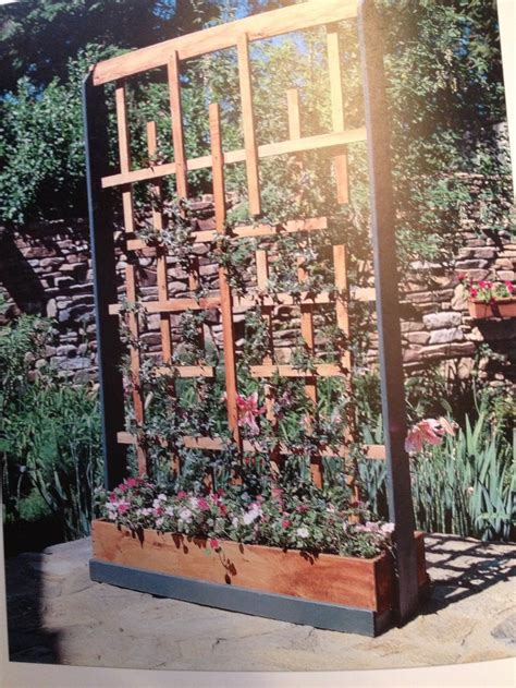 planters with trellis planter with trellis home pinterest