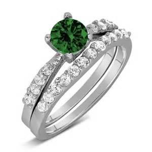 beautiful wedding ring sets beautiful emerald green cubic zirconia wedding ring set for withfeelings