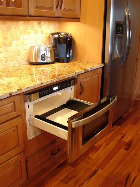Under Counter Microwave Kitchen Contemporary With Cabinets
