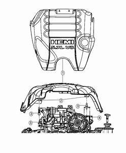 Ram 1500 Cover  Engine  Related  Mds  Vvt  Hemi  Mopar