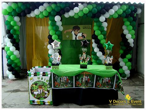 themed birthday ben  decorations  decors