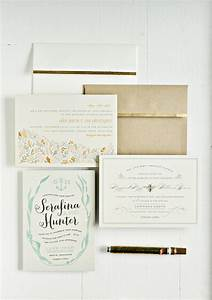 diy gold leafing wedding invitations and envelopes julep With minted wedding invitations cost