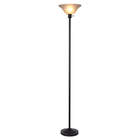 torchiere l shade replacement home depot hton bay 71 25 in bronze torchiere floor l with