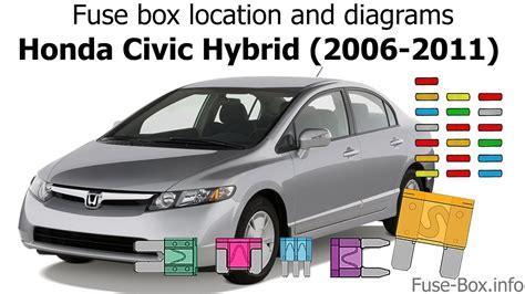 Fuse Box Location Diagrams Honda Civic Hybrid