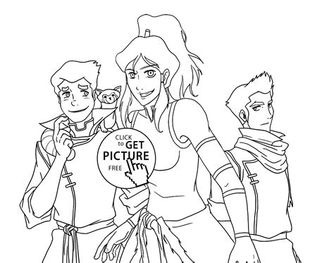 Avatar The Coloring Pages Coloring Home Legend Of Korra Coloring Pages Free To Print Coloring Home