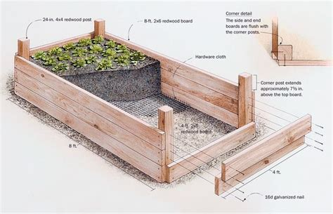 diy raised bed garden gardens raised