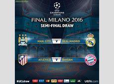 UEFA Champions League Semi Final Draw Man City vs Real