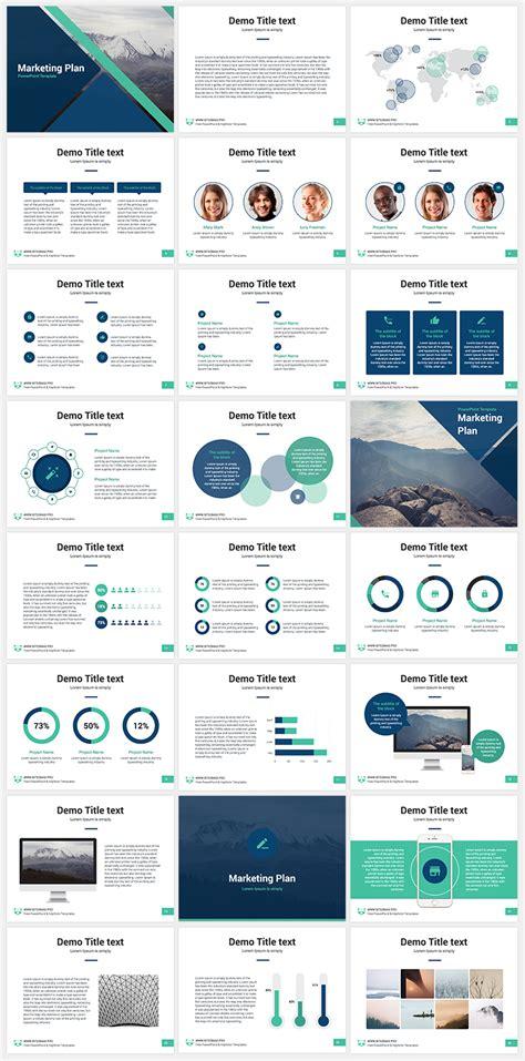 marketing plan  powerpoint template creative