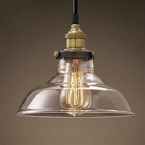 modern led glass pendant ceiling vintage light fixture