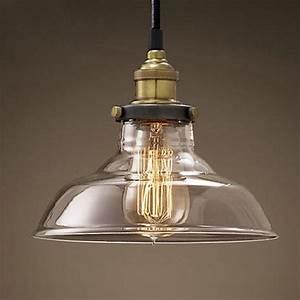 Modern led glass pendant ceiling vintage light fixture for Vintage style lighting fixtures