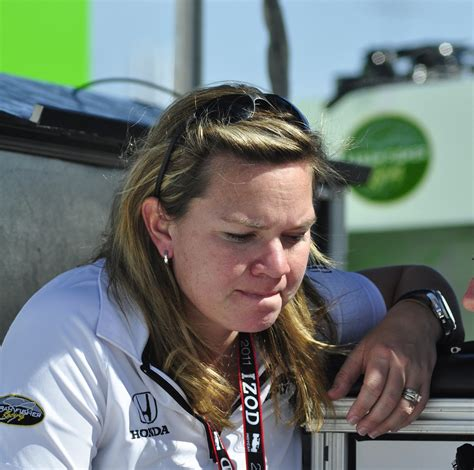 Sarah Fisher On The Pit Stand At Las Vegas