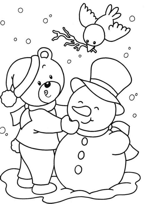 winter coloring pages  kids az coloring pages