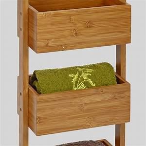 Etagere A Tiroir : etag re tiroirs bambou rangement eminza ~ Teatrodelosmanantiales.com Idées de Décoration