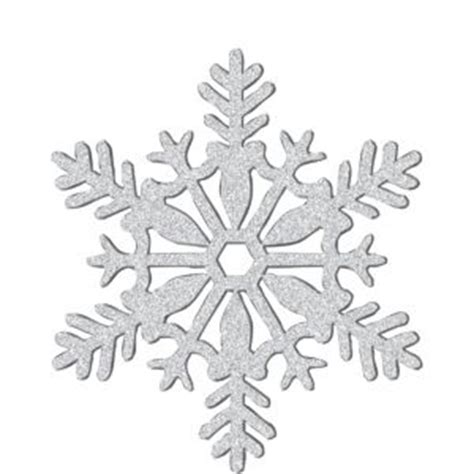silver snowflake decorations glitter silver snowflake 11in city
