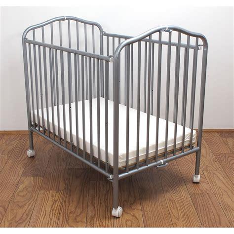 mini baby cribs la baby mini portable compact crib pewter ebay