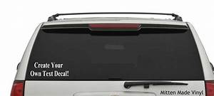 Create Your Own Text Decal Car  Laptop Decal Vinyl Car Decal