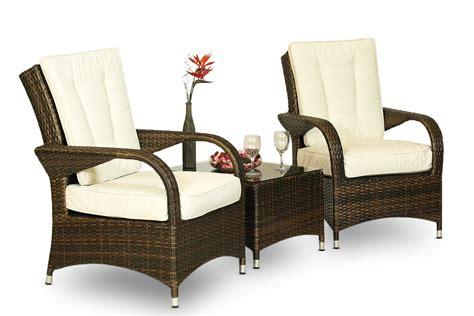 arizona rattan 2 x arm chair table outdoor lounge set