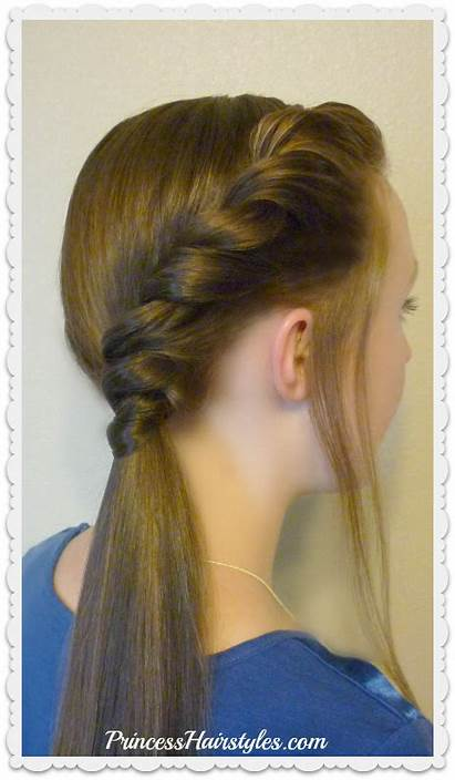 Hairstyles Ponytail Twist Side Easy Double Simple