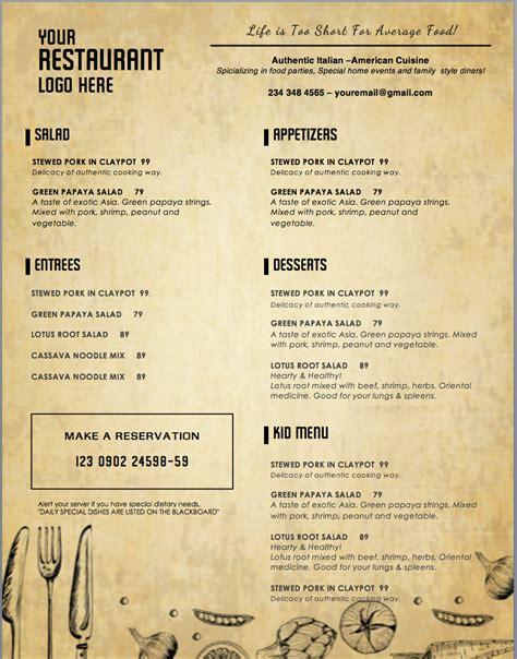 menu template design templates menu templates wedding menu food menu bar menu template bar menu