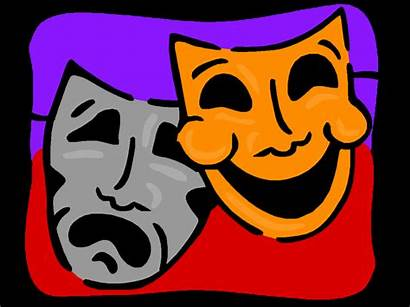 Drama Clipart Clip Play Masks Cartoon Dramatic