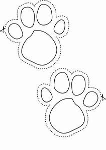 bunny footprints to help the little ones find their easter With bunny feet template printable