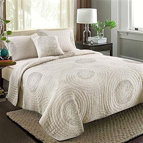 King Size Coverlets And Quilts by Quilts King Size 100 Cotton Solid Chagne Modern 3d