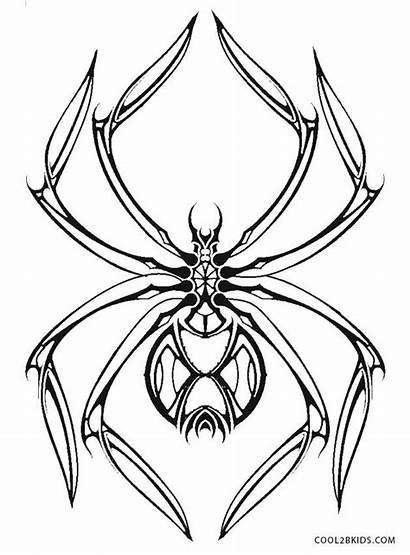 Spider Coloring Printable Spiders Widow Iron Halloween
