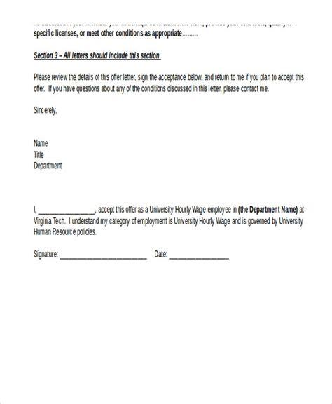 simple offer letter format planner template