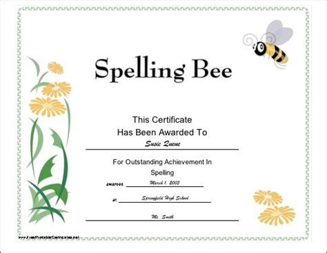 winner   high achiever   spelling bee