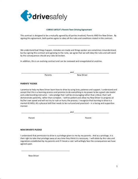 Contract For Safety Template by 15 Safety Contract Sles Templates Sle Templates
