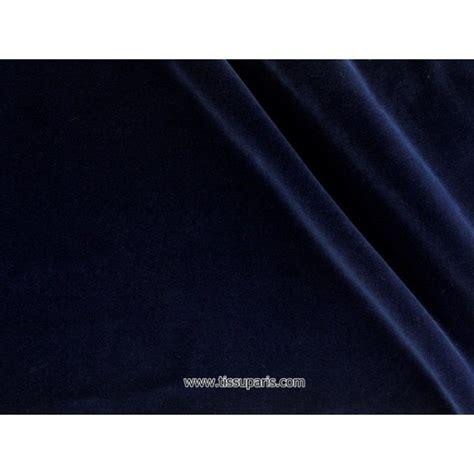 velours de coton bleu nuit 1977 91 145cm tissuparis com