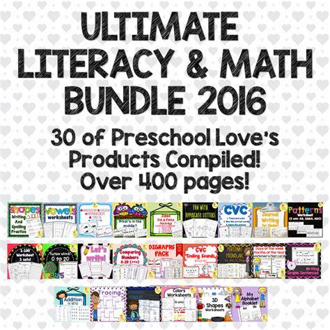 preschool love ultimate literacy math bundle