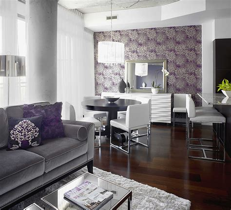 Grey And Purple Living Room Curtains by 7 Space Saving Tips For A Small Condo