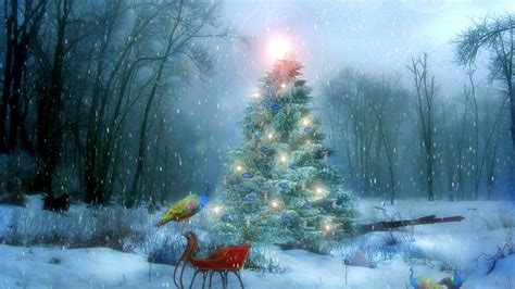 christmas winter scenes wallpaper  images