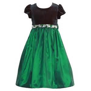 jayne copeland green velvet jeweled christmas dress set girls 2t 6x