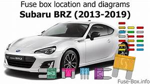 Fuse Box Location And Diagrams  Subaru Brz  2013