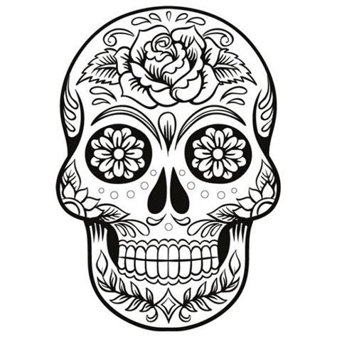 coloriage t 234 te de mort mexicaine pour fille