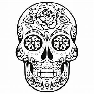 Tete De Mort Mexicaine Dessin : coloriage t te de mort mexicaine pour fille ~ Melissatoandfro.com Idées de Décoration