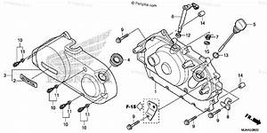 Honda Motorcycle 2013 Oem Parts Diagram For Right Crankcase Cover  1