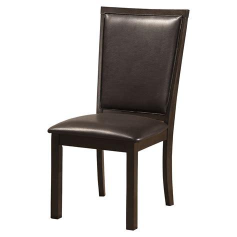 davenport side chair espresso faux leather dcg stores