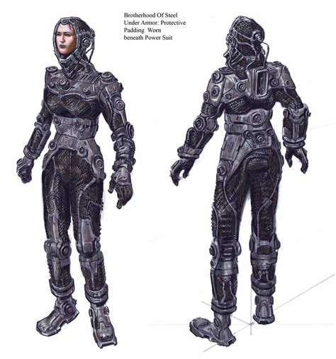 Bos Power Armor Undersuit Recon Armor Concept Art For
