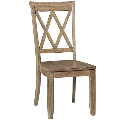 dining side chair with x back by standard furniture wolf