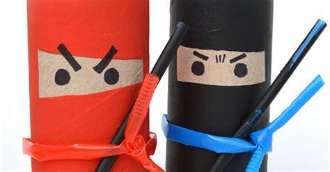 toilet roll ninjas frugal fun  kids