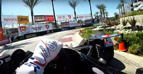 indycar onboard proves   mad  long beach