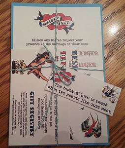 rockabilly tattoo sailor jerry wedding invitation kit With rockabilly wedding invitations free