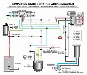 Simplified Start    Charge Wiring Diagram
