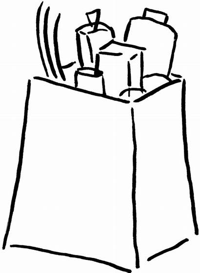 Grocery Clipart Bag Groceries Clip Cliparts Box