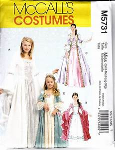McCalls 5731 Costume Pattern Little Girls Renaissance ...